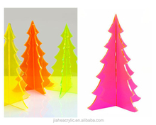 clear and fluorescence acrylic christmas tree