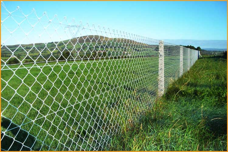 High security low price barbed wire chain link fence