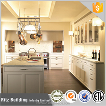Ritz light grey color solid wood kitchen cabinet exclusive Kitchen Cabinet