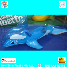 pvc inflatable whale toy with two handles