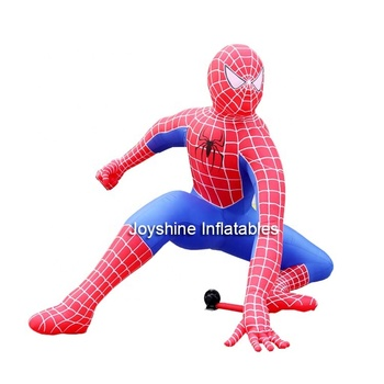 The Amazing 5m Inflatable Advertising Spider Man Air Dancer Model Cheap Oxford Fabric Spiderman Balloon For Sale