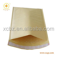 Gold kraft paper material bubble padded envelope