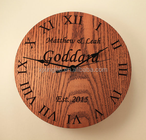 Antique digital wooden wall round clocks for sale