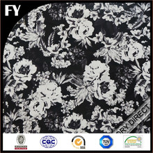 Custom high quality digital printed cotton stripe fabric black and white