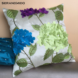 2018 Fashion Style Company Custom 45*45 Embroidered Cushion Cover