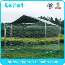 low price with solid roof and clamp connector chain link rolling pet dog enclosure