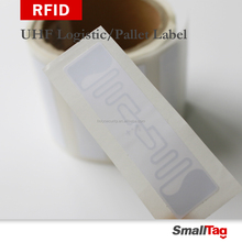 Free sample long range passive UHF logistic rfid blank label sticker