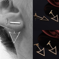 European and American trade jewelry retro street shooting metal geometric earrings earrings