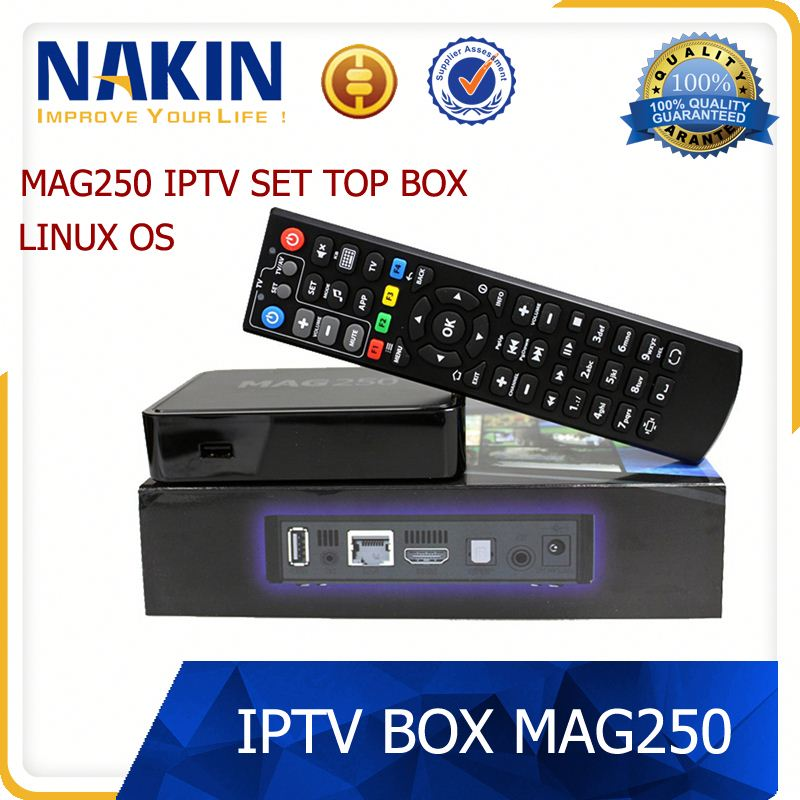 Best Linux system Mag 250 set top box Media player support Wifi usb connector /Cable mag 254 iptv box
