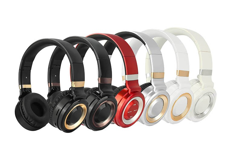 Rohs ce fcc multipoint stereo bluetooth headset for wholesale