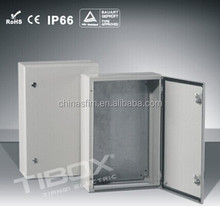 TIBOX Low voltage indoor IP65 sheet metal enclosure for electronics distribution control box housing