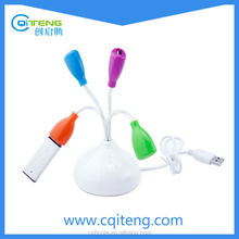 Flower Shape USB Hub Promotional Gift 4 Port USB Hub Tulip Flower USB Hub