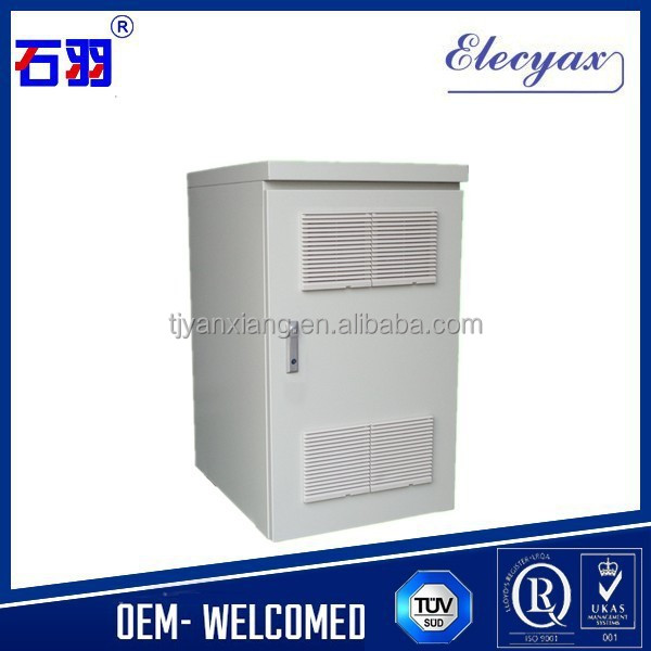 Aluminum Outdoor Communication Cabinet/16U Equipment Rack Enclosure SK-220 With Fans and PDU Outlet