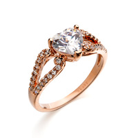Italina Rigant Hot sale 18k gold plated heart diamond ring