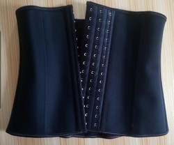 hot selling rubber mature black waist trainer