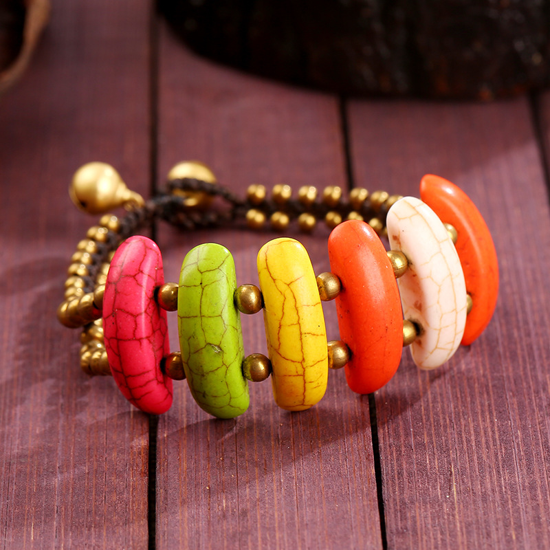 Fashion Handmade DIY Jewelry Turquoise Bell Wholesale Bracelet