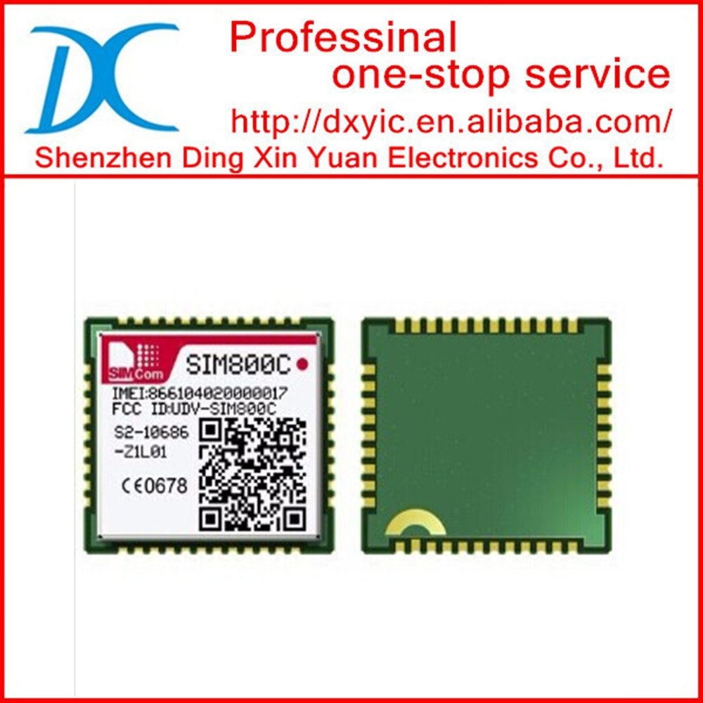 Original & New SMT GSM/GPRS Bluetooth Module SIMcom SIM800C 17.6*15.7*2.3mm