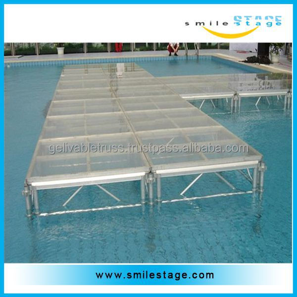 best sale portable aluminum performance stage for swimming pool with high quality
