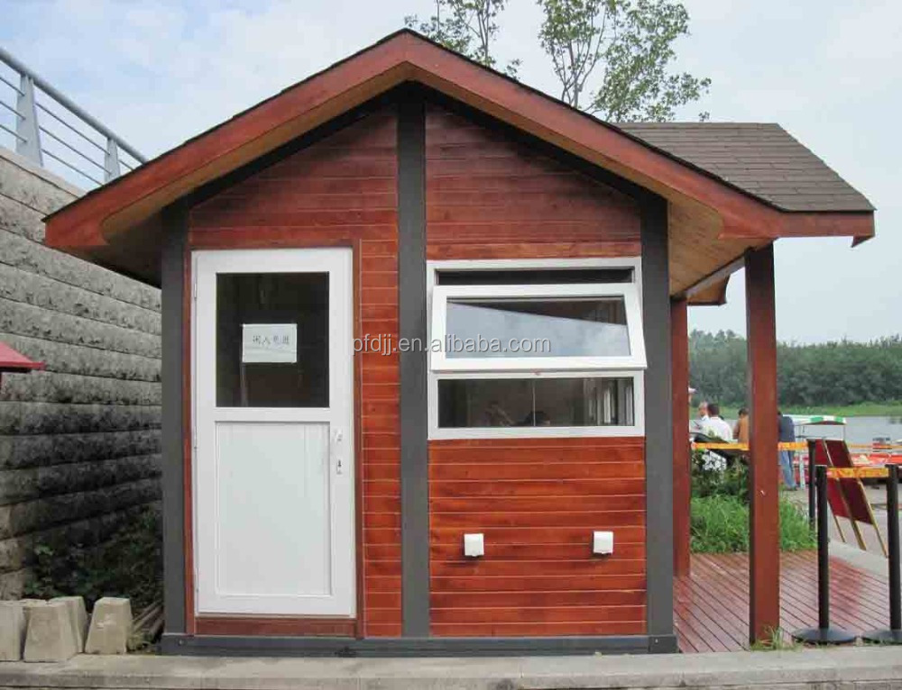 simple movable log cabin small house with cheap price