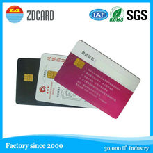 OEM standard size plastic iso 7816 Contact Smart ic Card, ISO CR80 Smart Card