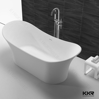 New style pure white rectangular bathtub