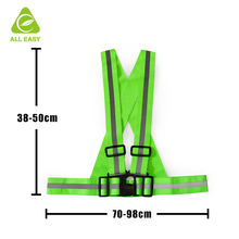 Wholesale Reflective <strong>Safety</strong> Straps Vest With 2 Running <strong>Safety</strong> Bands