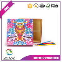 Eco-friendly custom printed owl christmas paper boxes with lids wholesale