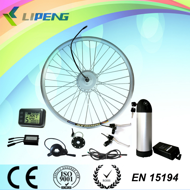 BLDC 36V 250W electric bike fron drive engine conversion kit with hub motor and Li-ion battery