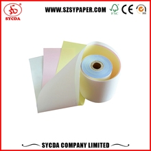 carbonless paper price 3-ply continuous carbonless printing paper for vista print invoice books