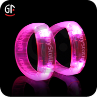 Party Decor 3 Flashing Modes Led Glow In the Dark Bracelet For Fashion Girls