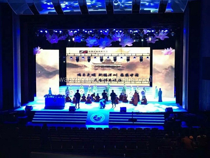 High Resolution Full Color Rental Indoor Stage LED Screen For Concert