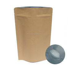Reusable Custom printed kraft paper valve coffee bean /powder bag wholesale