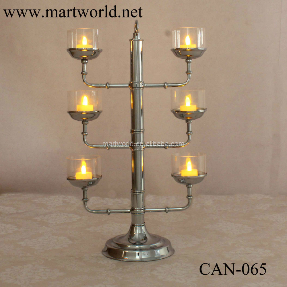 2017 battery led light candelabra centerpiece wedding decoration candelabra stand decoration new wedding decoration (CAN-065)