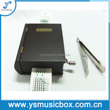 Black Wooden Book Music Box with DIY 15 Note Yunsheng Paper Strip Hand Crank Music Box
