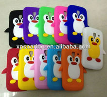 penguin silicone case cover for Samsung Galaxy ACE 2 i8160