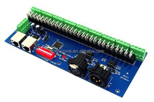 27 Road LED DMX512 controller, 27-channel DMX decoder board, LED 9 group DMX RGB output