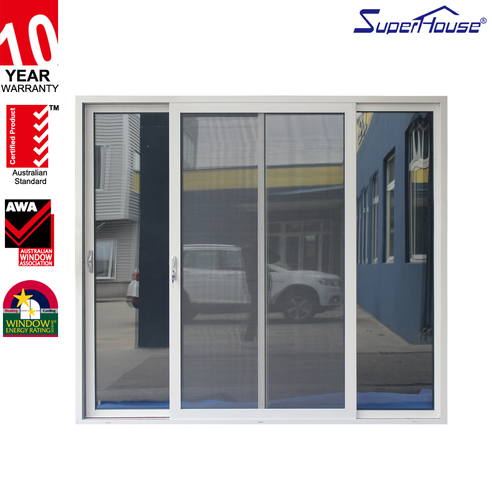Superhouse Australia standard AS2047 aluminium sliding glass doors wholesale