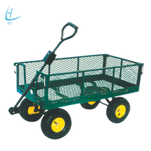 Cheap Metal Four Wheel Garden Tool Cart with Poly Tray