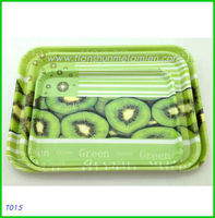3 piece custom fruit decal melamine serving tray set