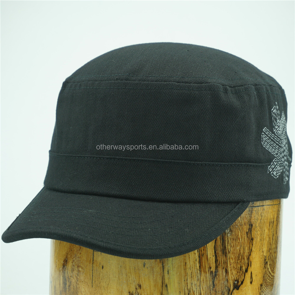 stylish black military hats for men