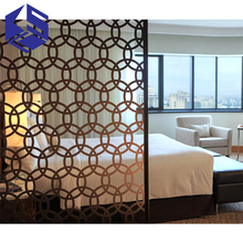 Luxury metal screen divider hotel room partition interior wall partition