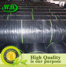 Black pp woven weed control mat with anti UV