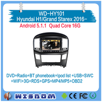 New model car dvd player for Hyundai H1/Grand Starex 2016 gps navigation android car stereo 2 din support wifi 3g intenret ipod