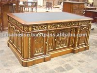 French style furniture - president desk mahogany furniture