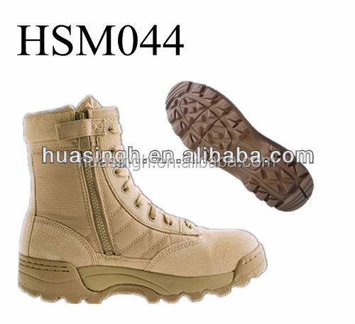 rubber stitched sole outdoor hiking durable coyote desert boots low price