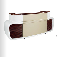 Special Design Dark Wood Office Reception Desk Design