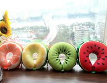 New simulation fruit u-type pillow kiwi watermelon orange fashion bubble particles u-type car headrest
