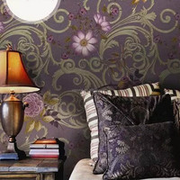 688P601 Top grade idylic scenery style deep embossed pvc/vinyl wall paper for home decoration