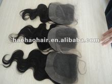 100% cheap brazilian virgin human hair lace closure,brazilian hair middle parting closure