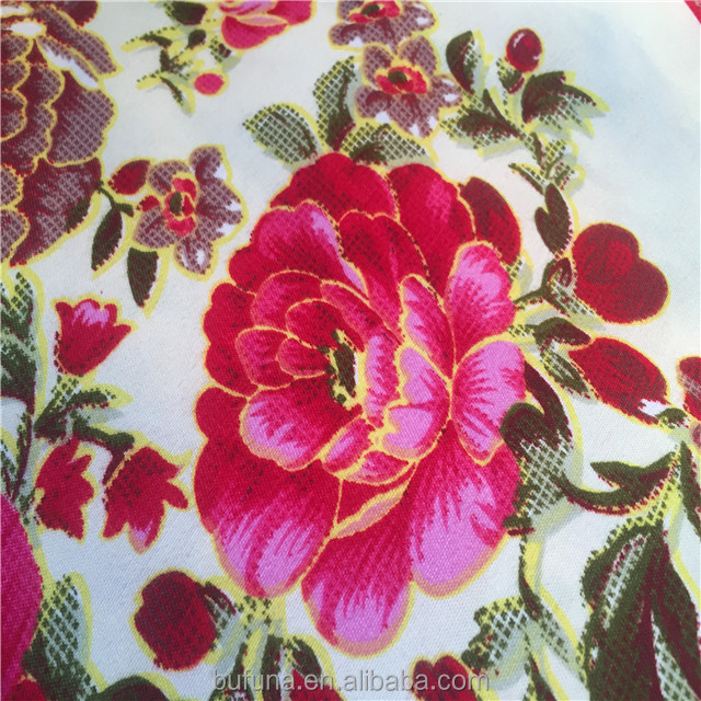 flowers printing fabric 3d fabrics china textile factory